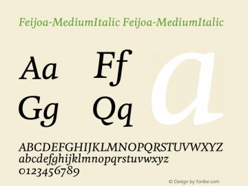 Feijoa-MediumItalic