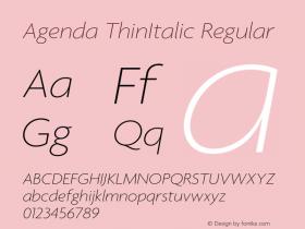 Agenda ThinItalic