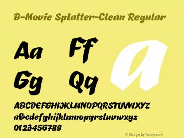 B-Movie Splatter-Clean