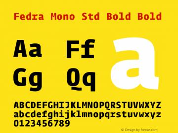 Fedra Mono Std Bold