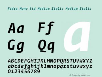 Fedra Mono Std Medium Italic