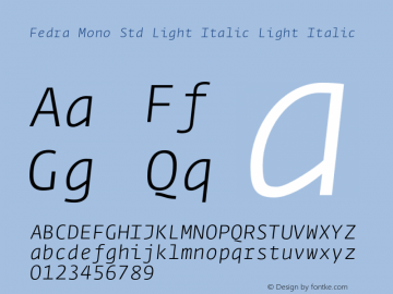 Fedra Mono Std Light Italic