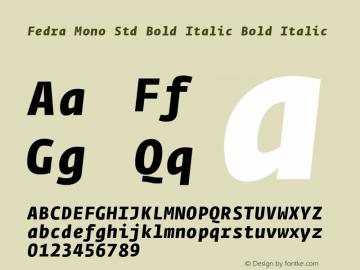 Fedra Mono Std Bold Italic