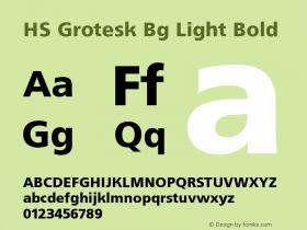 HS Grotesk Bg Light