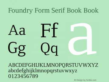 Foundry Form Serif Book
