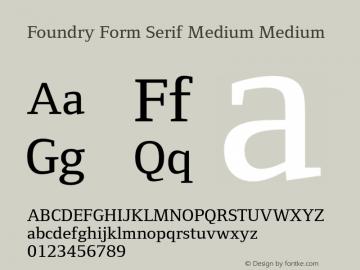 Foundry Form Serif Medium