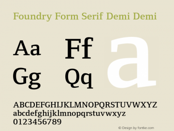 Foundry Form Serif Demi