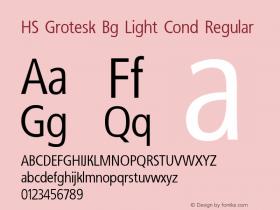 HS Grotesk Bg Light Cond