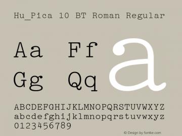 Hu_Pica 10 BT Roman