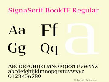 SignaSerif BookTF