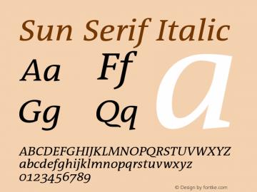 Sun Serif