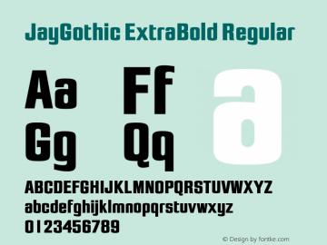 JayGothic ExtraBold