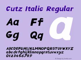 Cutz Italic