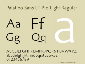 Palatino Sans LT Pro Light