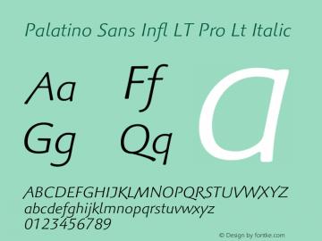 Palatino Sans Infl LT Pro Lt