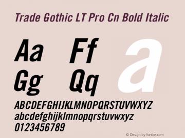 Trade Gothic LT Pro Cn