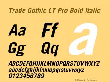 Trade Gothic LT Pro Bold