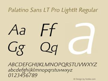 Palatino Sans LT Pro LightIt