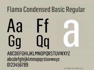Flama Condensed Basic