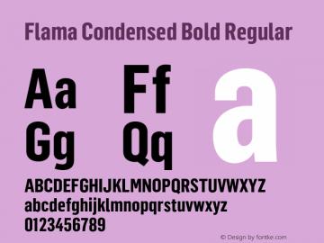 Flama Condensed Bold
