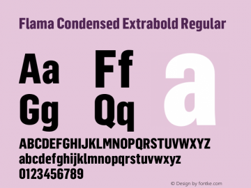 Flama Condensed Extrabold