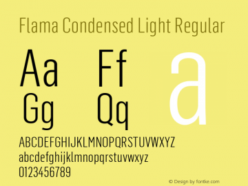 Flama Condensed Light