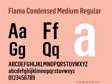 Flama Condensed Medium