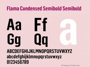 Flama Condensed Semibold
