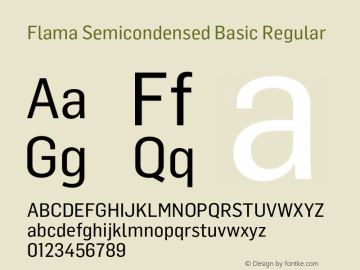 Flama Semicondensed Basic