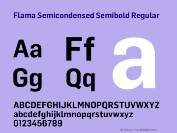 Flama Semicondensed Semibold