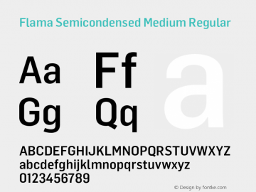 Flama Semicondensed Medium