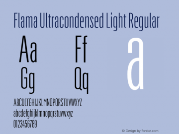 Flama Ultracondensed Light