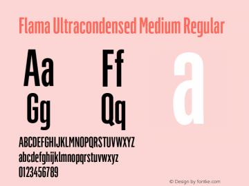 Flama Ultracondensed Medium