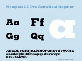 Memphis LT Pro ExtraBold