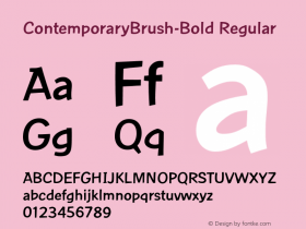 ContemporaryBrush-Bold