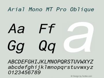 Arial Mono MT Pro