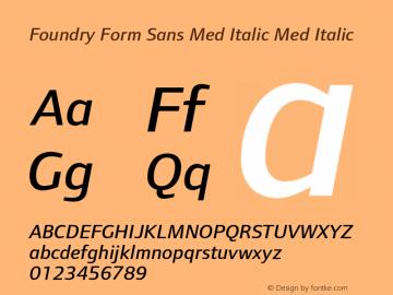 Foundry Form Sans Med Italic