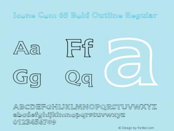 Icone Com 65 Bold Outline