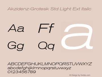 Akzidenz-Grotesk Std Light Ext