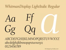 WhitmanDisplay LightItalic