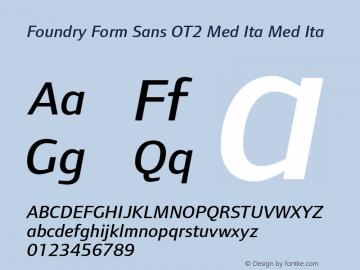 Foundry Form Sans OT2 Med Ita