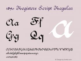 1890 Registers Script