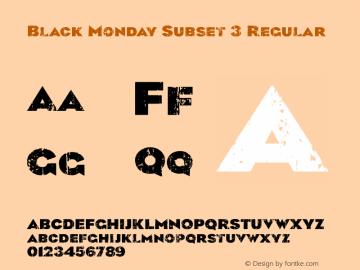 Black Monday Subset 3
