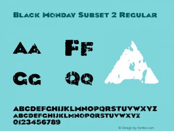 Black Monday Subset 2