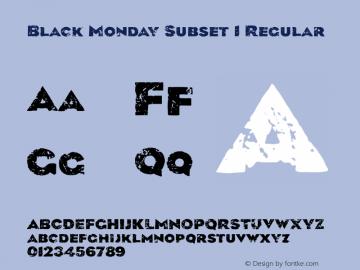 Black Monday Subset 1