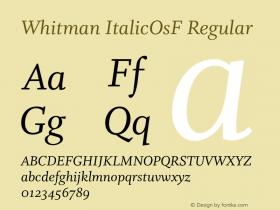 Whitman ItalicOsF