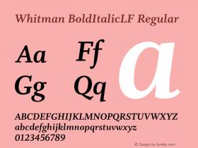 Whitman BoldItalicLF