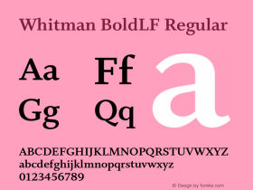 Whitman BoldLF