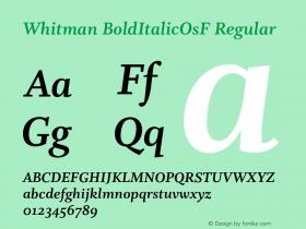 Whitman BoldItalicOsF