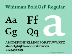 Whitman BoldOsF